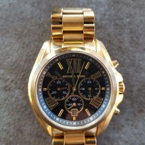 Michael Kors Gold & Black Bradshaw Watch MK 5739